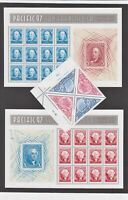 US Pacific '97 - Washington and Franklin S/S - Sc. 3130, 3131, 3139, 3140, MNH