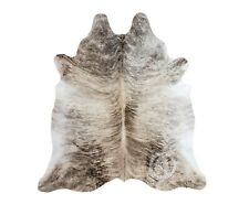 New Brazilian Cowhide Rug Leather LIGHT BEIGE BRINDLE 6'x8' Cow Hide