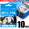 10pc Anti-Fog Lens Cleaning Glasses Cloth Reusable Up To 600 Times Goggle Vision