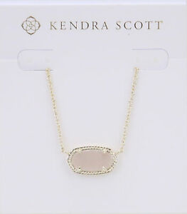 Kendra Scott Elisa Oval Pendant Necklace in Iridescent Drusy and Gold