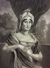 Maria Letizia Bonaparte estampe 1853 gravure sur acier Empire Napoléon France