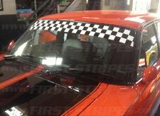 """Old School Race / Muscle Car """"Checkered Windscreen Banner Sticker"""" Bathurst 1000"""