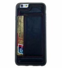 Glossy Leather Cases & Covers with Card Pocket for Apple Phones