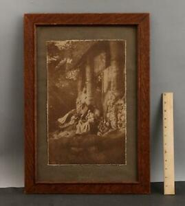 RARE Antique A&C California Henry Ravell American Mission Indian Photograph
