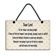 Handmade Dear Lord Fun Gift Hanging Home Sign/Plaque 311