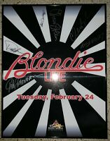 Blondie (Debbie Harry) + band Hand Signed Autographed Poster JSA/LOA