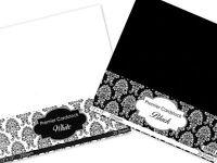 "BLACK & WHITE 20 SHEETS 12"" x 12"" PREMIER CARDSTOCK SCRAPBOOKING CARD 250gsm CUK"