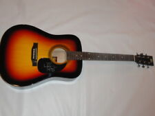 WALKER HAYES SIGNED SUNBURST ACOUSTIC GUITAR YOU BROKE UP WITH ME COUNTRY STAR