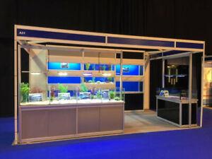 Fish tank rack system, shop fitting, aquariums for shops, fish farming, pet shop