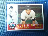 1960 TOPPS CLETIS BOYER NEW YORK YANKEES NICE CONDITION