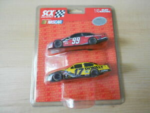 NASCAR SCX Compact 1:43 Slot Racing #17 #99 Race Car Pack of 2 NOS Sealed