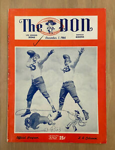 VINTAGE 1946 AAFC BUFFALO BISONS @ LOS ANGELES DONS FOOTBALL PROGRAM - 1ST YEAR