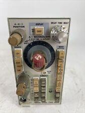 Vintage Tektronix 5b12n Dual Time Base Plug In Parts Or Repair