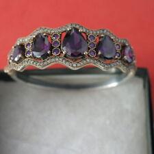 Unbranded Amethyst Sterling Silver Fine Bracelets