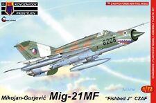 MiG-21 MF /TYPE 96F/ FISHBED J (CZECH & CZECHOSLOVAK MKGS)# 84 1/72 KOVOZAVODY