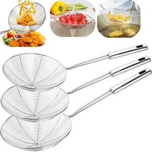 Swify Spider Set of 3 Asian Strainer Ladle Stainless Steel Wire Skimmer Spoon