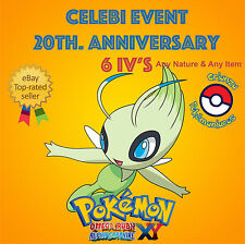 Pokémon ORAS / XY – CELEBI EVENT POKÉMON 20th ANNIVERSARY 6IV's - ANY NATURE