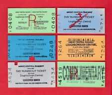 Great Central Railway Tickets - 6 Edmondsons: Loughborough Leicester 1990s 2000s