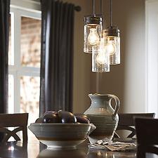 Pendant Light (3 Lamps) Vintage Ceiling Fixture Chandelier Kitchen Dining Room