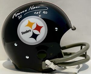 Franco Harris Signed Autographed Pittsburgh Steelers 2 Bar TK Full Size PSA/DNA