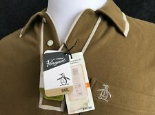 Mens NWT Penguin EARL Heritage slim polo Dusty Olive Size Small Women's M