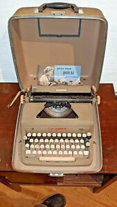 Un Restored Rare 1953 ? Royal Portable Quiet Deluxe Typewriter as found