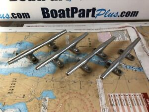"""8"""" Stainless Steel Hereshoff Cleats Open Base (Set of 4)"""