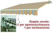 TENDE DA SOLE AVVOLGIBILI A BRACCIO RIGHE GIALLO/GRIGIO VIGOR