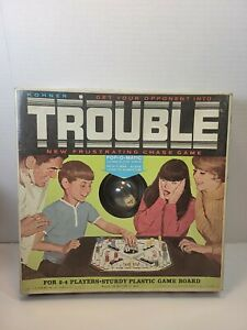 Vintage 1965 Trouble Board Game by Kohner Bros. No. 310 ~ Missing 1 Green