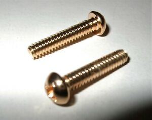 Electric Guitar 3/5 Way 3.3mm Switch Screws Stratocaster - Telecaster GOLD x 2