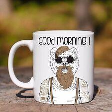 Tazza ceramica ORSO TATTOO GOOD MORNING ANIMAL HIPSTER ceramic mug
