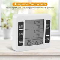 Wireless Digital Audible Alarm Refrigerator Thermometer with 2pcs Sensor