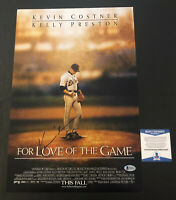 KEVIN COSTNER SIGNED AUTO FOR LOVE OF THE GAME 12X18 PHOTO AUTHENTIC BECKETT