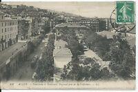 CPA - ALGER - Panorama et boulevard Bugeaud pris de la Préfecture