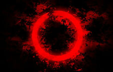 Framed Print - Red Abstract Circle (Picture Poster Art Artwork Painting Photo)