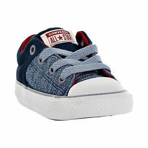 Toddler Converse Street Heather Canvas Slip On Navy/Glacier 760721F 100% New