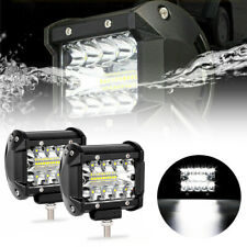 4 inch 200W LED Work Light Bar Flood Spot Beam Offroad 4WD SUV Driving Fog Lamps