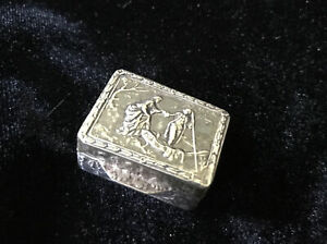 Italian Sterling Silver (.800)  Italian Snuff / Pill Box- Highly  Detailed
