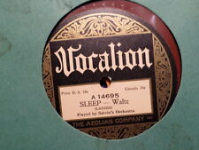 RED VOCALION 78 RECORD 14695/SELVIN'S ORCHESTRA/SLEEP/THE WEST,A NEST AND YOU/EX