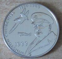 Tristan da Cunha 50 pence 1999 KM# 9 Winston Churchill