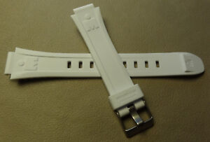 Ladies Timex T5K248 10 Lap 100M Ironman Triathlon 14mm White Sport Watch Band