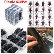 630Pcs Auto Car Body Plastic Push Pin Rivet Fasteners Trim Bumper Moulding Clip