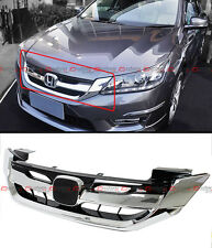 For 2013-2015 9th Gen Honda Accord Sedan Chrome JDM RS Style Front Grille Grill