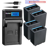 Kastar Battery LCD Charger for CGA-D54 D54s Pro Panasonic AG-HPX255 AG-HPX255P