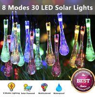 Outdoor Solar Powered 8Modes 30 LED String Light Garden Patio Yard Party Decor