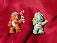 Care Bears WISH BEAR & TENDERHEART Christmas Ornament Set