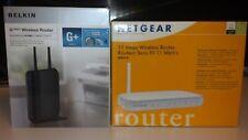Routers Belkin PM01122 G + MIMO, Netgear MR814  B router 2 bundle lot set
