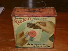 Vintage Lorillard's Redicut Tobacco Lunch Pail Advertising Tin