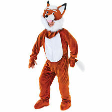 "Mens Mr Fox Costume Big Head Brown 42"" - 44"" Chest Fancy Dress Costume"