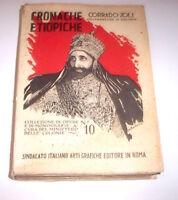 Colonialismo Africa - Zoli - Cronache Etiopiche - 1^ ed. 1930